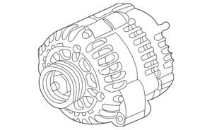 Genuine Gm Alternator 22781131
