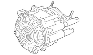 Genuine Gm Alternator 24266687