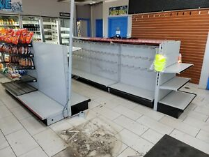 Lozier Shelving For Gas Station Or Convenience Store 4ft Sections With Hardware