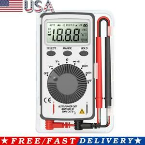 Portable Lcd Pocket Digital Multimeter Ac Voltage Capacitance Resistance Tester
