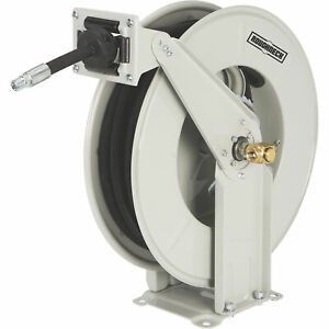 Roughneck Heavy duty Oil Hose Reel With 3 8in X 50ft Hose