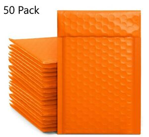 Orange Bubble Mailers X50 Small Shipping Envelopes 4x8 Bags Padded Packaging