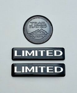1999 2004 Jeep Grand Cherokee Wj Limited Trail Rated Oem Factory Emblems