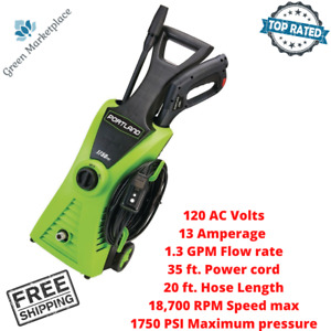 Portland Electric Pressure Washer Portable Cleaner Concrete Vehicles Car Washing