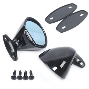 2 Universal Classic Car Door Wing Side View Plane Mirror Hot Rod Rat Rod Muscle