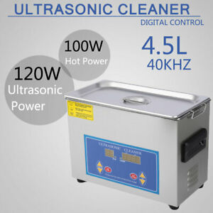 4 5l Stainless Steel Industry Heated Ultrasonic Cleaner Cleaning Heater Ah