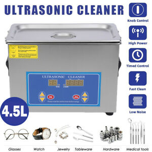 4 5l Industry Heated Ultrasonic Cleaner Jewelry Cleaning Device W heater Ah