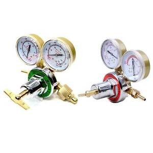 Pressure Oxygen acetylene Regulator Welding Gas Cutting Torch Tool 2 Gauges Us
