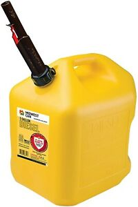 5 Gallon Yellow Poly Diesel Fuel Can Container W Flameshield Spout pack Of 4