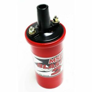Msd 8202 Ignition Coil Blaster 2 Canister Round Oil Filled Red 45000 Volt