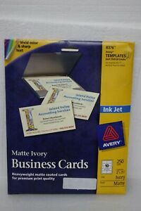 Avery 8376 Business Cards 2 X 3 50 Matte Ivory 250 Count