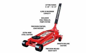3 Ton Car Heavy Duty Floor Jack Rapid Pump Garage Shop Auto Lifting Auto Steel