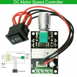 6v 28v Max 3a 80w Pwm Dc Motor Speed Controller Reversible Switch Governor Us
