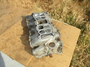 Weiand Wcp2q Chevy Bbc Rect Port Dual Quad Intake Manifold 2x4 Say why and 7506