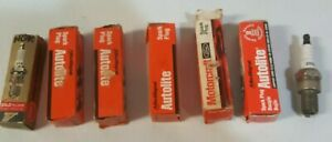 Vintage Old New Stock Of Spark Plugs One Had No Box All New Never Used