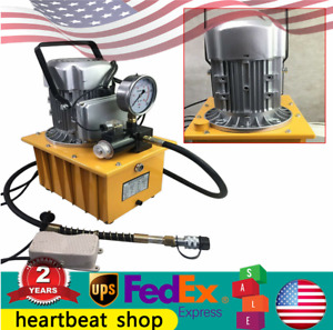 2 Stage Solenoid Valve Electric Hydraulic Pump Power Pack 110v Psi Hydraulic Us