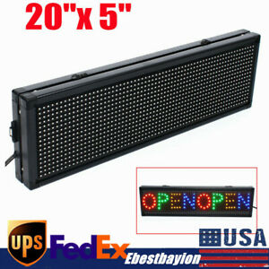 P8 20x5 Inch Full Color Led Sign Programmable Scrolling Message Display Banner