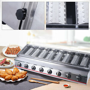 8 Burners Gas Bbq Grill Lpg Commercial Food Grade Stainless Steel Bbq Grill