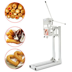 5 Nozzles 3l Manual Vertical Spanish Donut Churros Machine Maker W Stand New