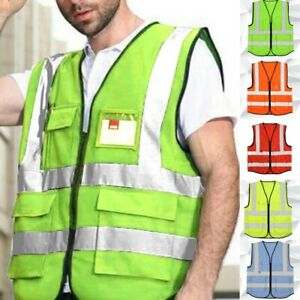 New Safety Security Visibility Reflective Vest Construction Traffic Cycling Wear