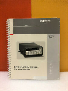 Hp 53131a 132a 225 Mhz Universal Counter Operating Guide