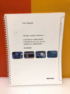 Tektronix 071 0518 00 Wander Analyst Software Cts 850 For Sdh sonet User Manual