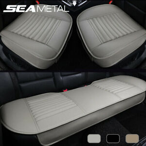 Car Front Rear Full Surround Seat Cover Breathable Pu Leather Pad Chair Cushion
