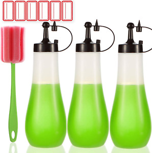 Condiment Squeeze Bottle Plastic Syrup Salad Dressing Container Food Dispenser