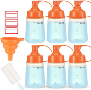 Wide Mouth Condiment Squeeze Bottle Syrup Container Dispenser Squeeze Bottles