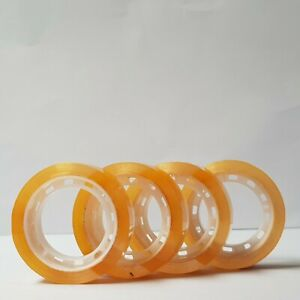 New Sellotape 4 Rolls 12mm X 50m Clear Transparent Packing Packaging Tape