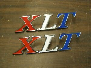 New Repro 1970 1971 1972 Ford Truck Ranger Xlt Bed Side Emblems Ornaments F100