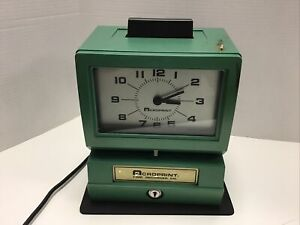 Acroprint Time Recorder Co Time Card Clock Punch 150rr4 No Key