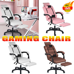 Gaming Chair Racing Computer Office Chair Pu High Back Footrest Ergonomic 3 Colo