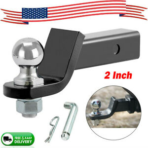 2 Drop Hitch For 2 Receiver Trailer Ball Mount With 2 5 16 Hitch Ball Set Us