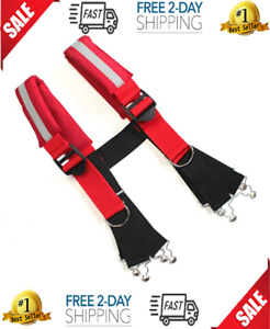 Firefighter Pant Suspenders Fire rescue Quick Adjust Suspenders With Reflecti