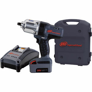 Ingersoll Rand Iqv20 Series Cordless Impact Wrench Kit 20v 1 2in Drive