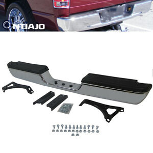 For 94 02 Dodge Ram 1500 2500 Pickup Chrome Rear Bumper Assembly Replacement