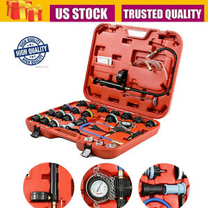 28pc Adapters Radiator Pressure Tester Kit Coolant Vacuum Type Cooling System Us