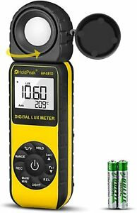 Light Meter Digital Lux Meter With 0 01 400 000 Lux And 270 Rotatable Detector