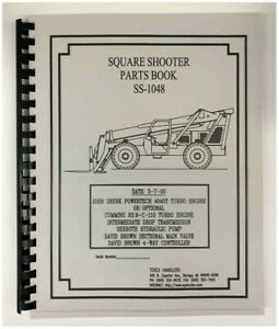 Terex Ss 1048 Extendo Boom Square Shooter Forklift Parts Manual
