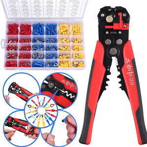 Crimp Tool Kit Crimping Wire Stripper Plier Tools With 500pcs Wire Terminals Set