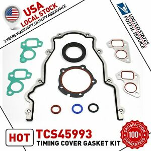 Timing Chain Cover W Water Pump Gaskets Main Seal For Gm Ls1 4 8l 5 3l 5 7l