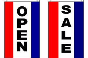 Open And Sale Vertical Polyester 3x5 Foot Flag Set Business Advertising Banner