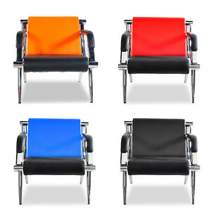 Modern Pu Leather Reception Office Chair Waiting Room Guest Visitor Sofa Seat Us