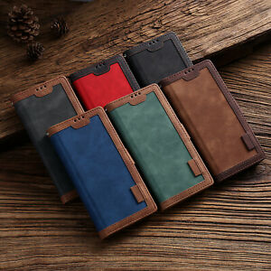 For Samsung Note 20 S21 Ultra S10 S9 Leather Wallet Flip Card Slot Case Cover