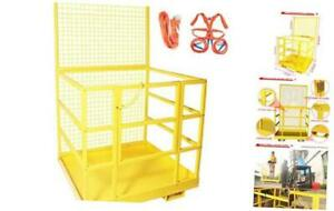 Attachments Forklift Safety Cage Work Platform 45 X 43 with Safety Harness