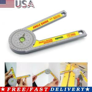 Miter Saw Protractor Inclinometer Angle Finder Level Meter Gauge Measuring Tool
