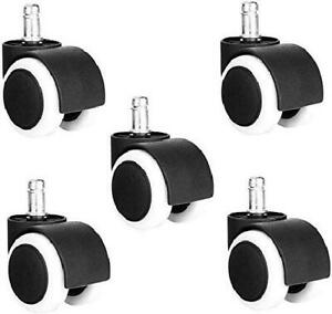 Office Chair Caster Wheels Smooth Rolling Heavy Duty Wheels Set Of 5