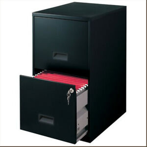 Filing Cabinet 2 drawer Steel File Cabinet With Lock Black 6 7 X 14 25 X 18