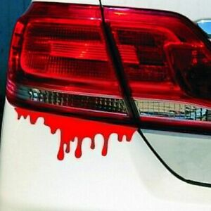 Auto Cool Car Stickers Red Blood Diy Vehicle Body Emblem Badge Styling Sticker